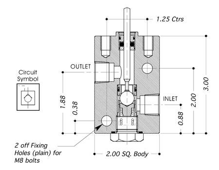bis valves products pilot operated check valve v1 37. Black Bedroom Furniture Sets. Home Design Ideas